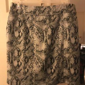 Snake skin Print skirt